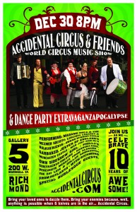Accidental Circus show in Richmond, VA Dec 30